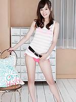 Kana Yuuki Asian shows pussy and juicy behind in pink thong