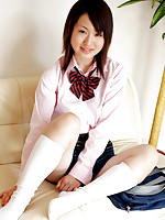 Naoko Sawano Asian in sexy school uniform is playful after class