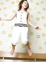 Runa Hamakawa Asian with hot curves shows how sportive she is