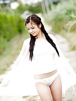 Kana Tsuruta Asian shows fine behind in most provocative ways