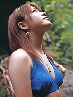Reina Tanaka Asian loves colorful outfits and to play outside