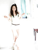 Airi Suzuki Asian in cute bath suit enjoys hot sand on her curves