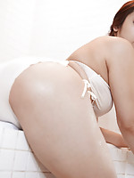 Shiori Kamisaki Asian shows big boobs and cunt while undressing